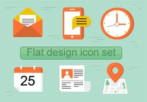 Livre Plano Vector Icon Set