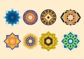 Ornamento islámico del vector