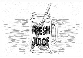 Fresh Lemonade Vector Jar Illustration