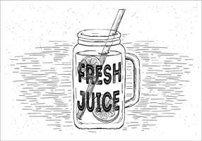 Limonada fresca libre Vector Jar Ilustración