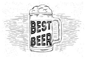Mano libre dibujado vector de la cerveza