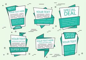 Free Vector Origami Sale Labels