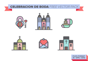 Celebracion de Boda Gratis Vector Pack