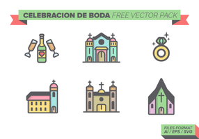 Celebracion de Boda Paquete de vectores libres