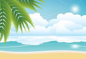 Tropical Summer Beach Vector Achtergrond