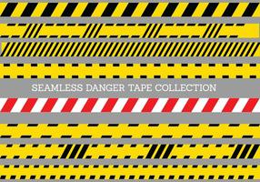 Seamless Danger Tape Template vector