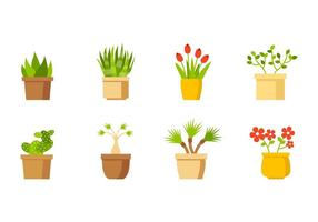 Free House Plantencollectie Vector