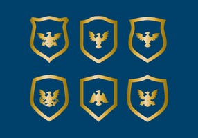 Eagle Seal Badge Vector