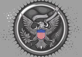 Vector estadounidense Silver Eagle