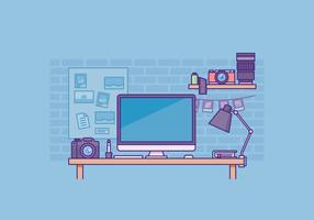 Photographer Workspace Illustration