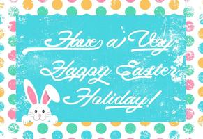 Cute Grunge Happy Easter Illustration