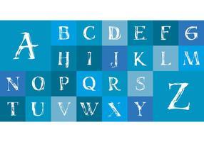 Kostenlose Grunge Alphabet Anfangsset