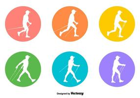 vector segni di nordic walking