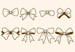 Handritad hårband vektorer