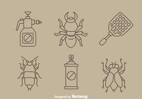 Pest Control Zeile Vektor