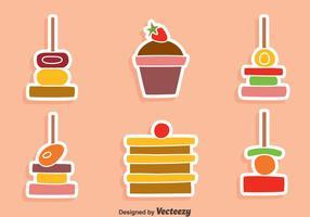 Nizza Canapes und Kuchen Vektoren
