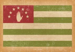 Abkahazia Flag on Grunge Style Background