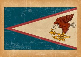 Bandiera delle samoa americane sul fondo di lerciume