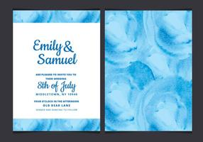 Vector Wedding Invitation with Watercolor Elements