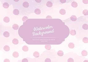 Vector Pink Watercolor Background