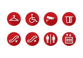 Servicio Público plana icono del vector gratuito