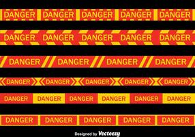 Danger Tape Collection Vector