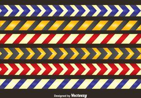 Colored Danger Tape Collection Vector