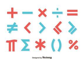El rojo y el azul de matemáticas de símbolos vector