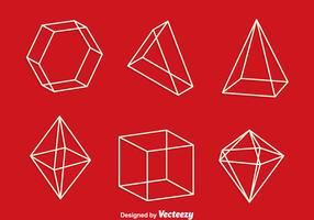 3d geometrische vormen Line Vector