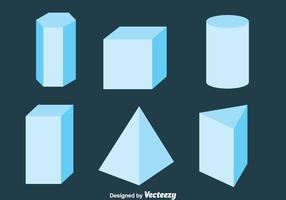 3D Geometric Shapes Collection Vector