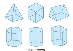 3D formas geométricas Vector