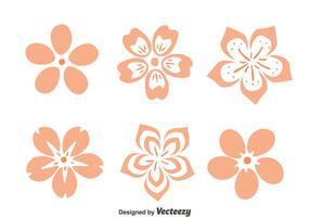 Peach Blossom blommor vektor