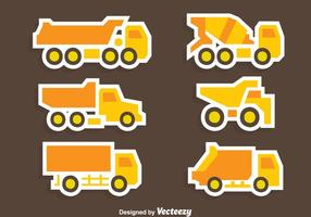 Great Yellow Trucks Collection Vector