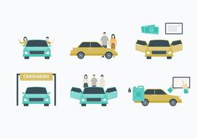 Carpool Element Vector Collection
