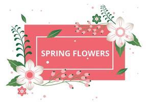 Free Spring Saison-Vektor Hintergrund