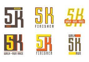5K etiqueta vector