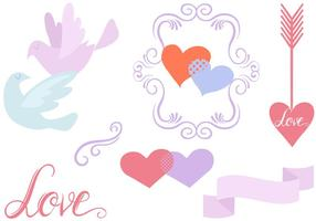 Vectores libres romántica