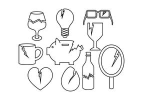 Gratis Broken Things Icon Vector