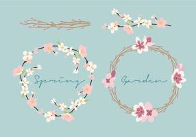 Spring Flower Wreath vector