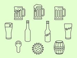 Beer And Baverage Icon Vector