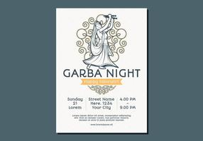Dancing Woman Garba Poster Template