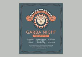 Vector Garba Template Poster