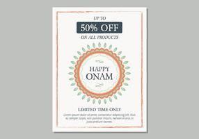 Onam Sale Poster Template