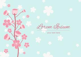 Peach Blossom achtergrond Vector