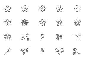 Libre de vectores flor del melocotón