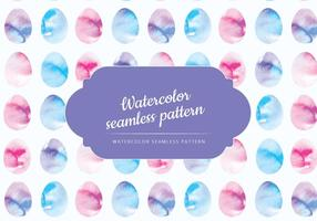 Vector Watercolor Easter Eggs Pattern