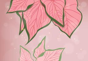 Roze Achtergrond van Bladeren