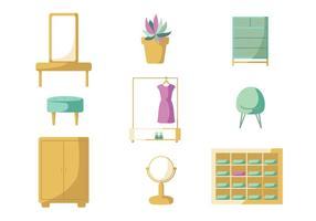 Minimalist Dressing Room Vector Pack