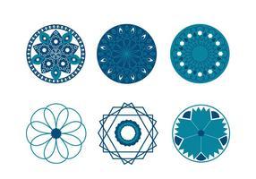 Símbolos geométricos islámicos vectorial