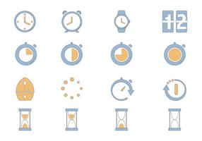 Timer Ikon Vector Pack